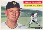1956 Topps Marv Grissom New York Giants #301 Baseball Card