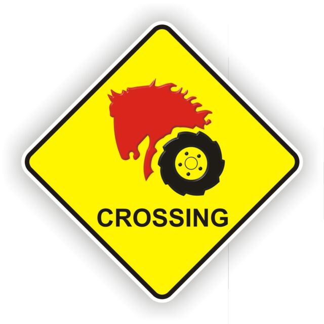 WHEEL HORSE NOVELTY CROSSING SIGN POLY