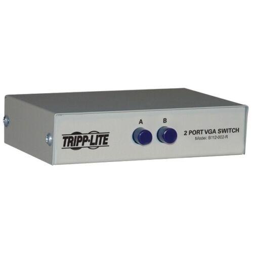 NEW Tripp Lite B112-002-R 2-Port Manual VGA//SVGA Video Switch 3x HD15F
