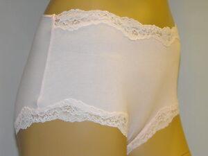 FaMouS-Store-M-S-Hi-Rise-Cotton-Lace-Trim-Shorts-Pants-Briefs-Knickers-8-amp-10