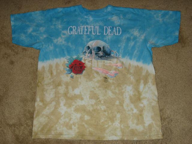 Grateful Dead Desert Skull Manufacture Defect Medium Tie Dye T-Shirt