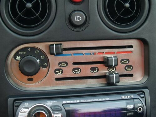 MX5 Heater control panel s//s trim kit Mazda MX-5 mk1 JASS Eunos stainless