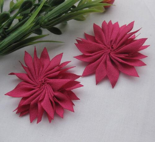 20pcs UPick Fancy ribbon flower Daisy Appliques DIY Sewing Wedding Deco