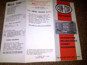 ConCor Brochure from 1970's - Classic and Interesting Model Railroading Reading