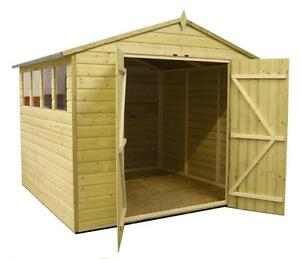Garden Sheds 8x8 garden shed 8x8 apex shed pressure treated extra height 4 windows