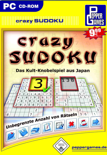Crazy Sudoku (PC, 2005, DVD-Box)