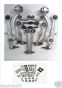 AUDI-RS6-S4-S6-S8-SUSPENSION-CONTROL-ARM-KIT-TIE-TRACK-ENDS-BOLTS-HORSE-SHOES