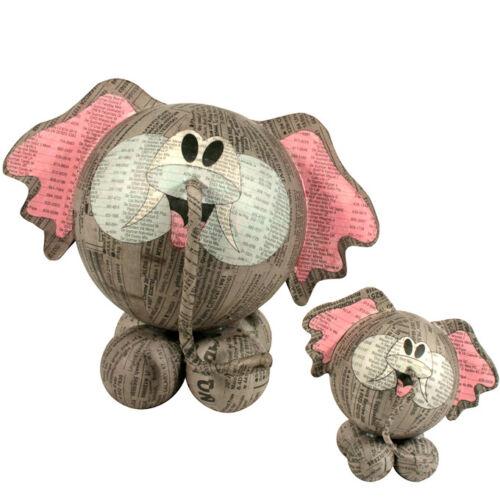 Paper Mache Elephant Figurines Handmade in the Philippines   Fair Trade  