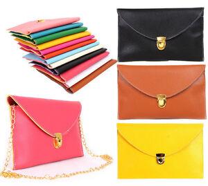 Womens-Envelope-Clutch-Chain-Purse-Lady-Handbag-Messenger-Tote-Shoulder-Hand-Bag