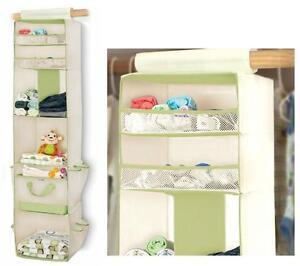 Image Is Loading Munchkin 6 Shelf Closet Organizer Cream Green For