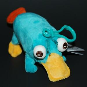 Disney-Parks-Phineas-and-Ferb-Perry-the-Platypus-Plush-Doll-Clip-Keychain-NEW