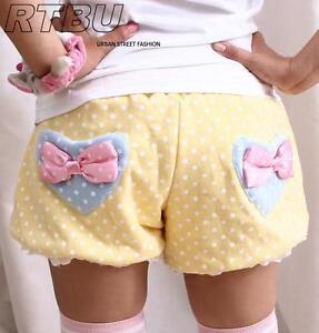 Japan-Decora-Pastel-Polkadot-Heart-Pocket-Pumpkin-Baggy-Bloomer-Shorts-VERY-WARM