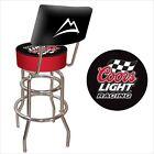 Global Trademark Coors Light Racing Padded Bar Stool with Back (CLR1100)
