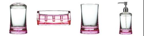 4 Colores Disponibles-Claro Acrílico-Mejor Calidad * Conjunto De Accesorios De Baño