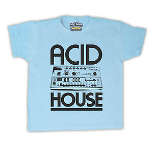 Acid house bass synth dance rave music retro kids t shirt for Acid house rave