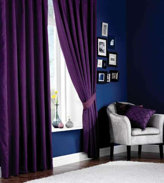 Luxury Faux Silk Pencil Pleat Curtains, Fully Lined Ready Made Curtains