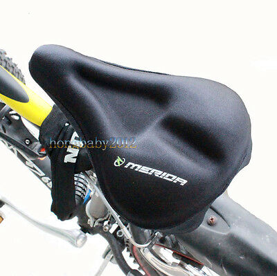 Cycling Bike 3D Bicycle Soft Silicone Pad Saddle Silica Gel Cushion Seat Cover