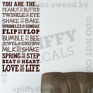 YOU-ARE-THE-PEANUT-TO-MY-BUTTER-LOVE-LIFE-Quote-Vinyl-Wall-Decal-Decor-Sticker