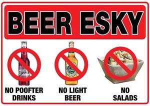 Beer-esky-sticker-150mm-x-100mm-no-P-fter-drinks-light-beer-salads