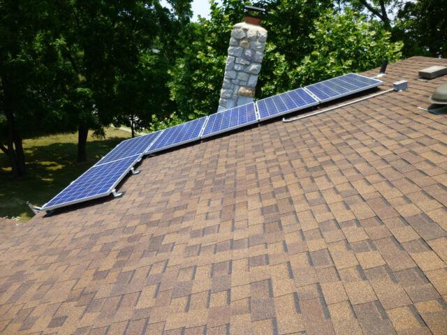 *SALE* SOLAR PANEL MOUNTING KIT-DOUBLE BOLT-BLACK 4 panels-