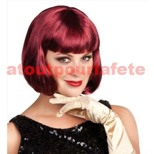 PERRUQUE CABARET Crazy,Lido,Gala,Femme,Accessoire,Carnaval,Déguisement