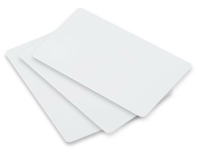 1000 x Blank PVC Plastic Cards CR-80 for all ID Printers-Top Quality Stock! 1k