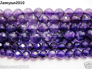 Grade-AAA-Natural-Amethyst-Gemstone-Faceted-Round-Beads-16-2mm-4mm-6mm-8mm