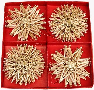 Scandinavian Swedish Norwegian Danish Straw Christmas Ornaments 16 pc bx #62