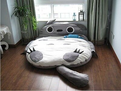 310*180cm Huge Cute Cartoon Totoro Double bed Sleeping Bag Pad Sofa