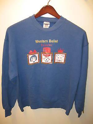 Western Ballet Mountain View California 1990's Nutcracker Faded Sweatshirt Large