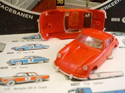 1960s Foreign Faller Porsche 911 Slot Car Body Red A+
