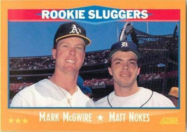 1988 Score Mark Mcgwire Matt Nokes 648 Baseball Card For Sale Online Ebay