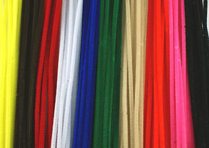 12-034-30cm-Chenille-Craft-Stems-Pipe-Cleaners-Choice-of-Colours-and-Pack-Size