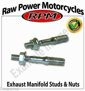 Hyosung-XRX-125-RX-SM-Supermoto-2007-2011-Exhaust-Studs-with-Nuts-Pair
