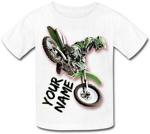 Motocross Mx Vélo T-shirt Pour Enfant Personnalisé-cadeau Idéal Pour Tout Enfant & Nommé-afficher Le Titre D'origine RafraîChissement