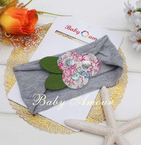 Stunning Unusual Cotton Girl Baby Flower Hair Headbands
