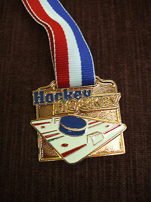 team lot of 12 bronze HOCKEY medal heavywheight enameled square trophy award