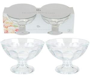 Set-Of-12-Glass-Footed-Ice-Cream-Fruit-Sundae-Dessert-Dishes-Bowls-Glasses