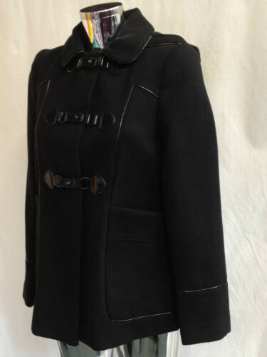 Womens Ladies New Trendy Belt Fastening Hooded Coat Size 8-18