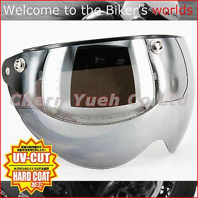 Swing Shield Visor Face Mask UV Mirror Silver Chrome Lens for Half Helmet BELL
