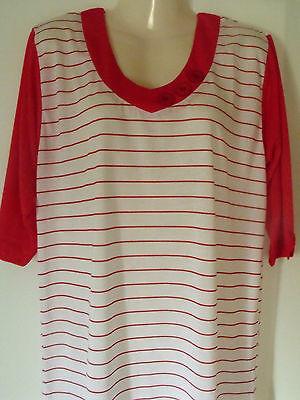 Damen Nachthemd , Sleepshirt  Gr. 44 - 46 / L  ,80 % BW 20% Modal   DNH/ 283-1