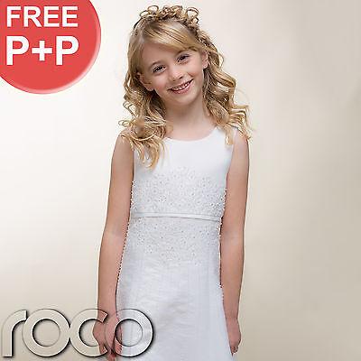 Traditional Girls White Satin Holy Communion Dress Nero Bolero Purse 7 - 10 yrs