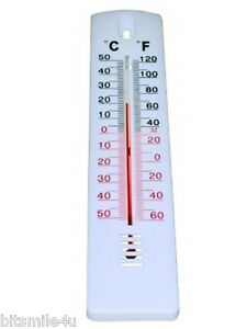 Image Is Loading Mercury Free Indoor Outdoor Home Garden Wall Thermometer