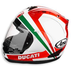 NEW-Arai-RX-7-Ducati-Tricolore-Full-Face-Helmet-2012-FREE-SHIPPING-Tri-Colore