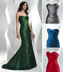 Ruched-Sheath-Bridesmaid-Evening-Prom-dress-Party-Ball-gown-SZ-6-8-10-12-14-16