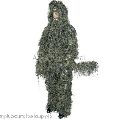 4 Piece Ghillie Suit - Medium to Large Size - Paintball Tactical Camo Clothing