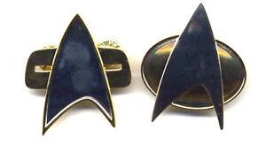 Star Trek:NG & Voyager Communicator Pin Set of 2-FullSize- FREE S&H