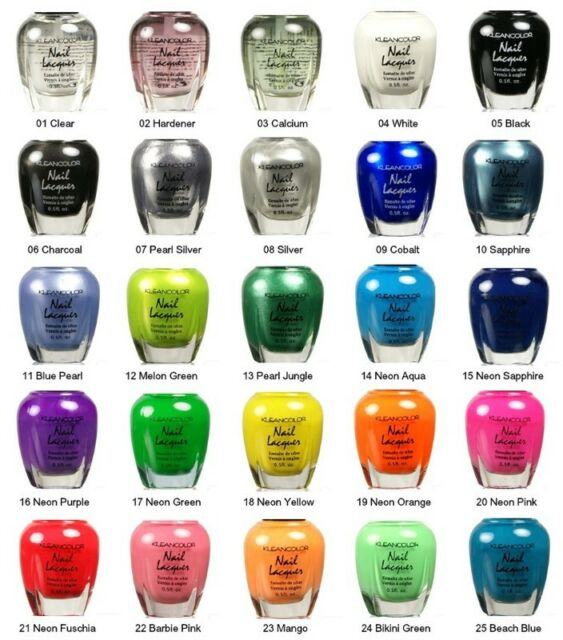 Kleancolor Nail Polish Lot of 24 Nail Lacquer Neon Scented Matte Holo Pastel OPI