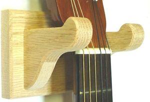Oak Guitar Hanger Wall Mount Stringed Instrument Display