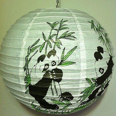Papier Lampion Panda Kinder Lampenschirm Lampe Hängelampe Deckenleuchte Bär